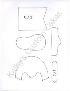 Fondant Baby Bootie Template — Sketches, Patterns