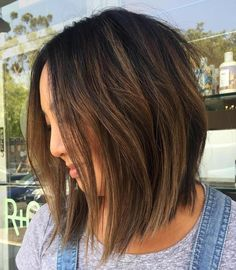 Brown Balayage Bob For Black Hair