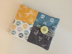 Sewing case made using The Craft Cotton Company sewing bumblebee range