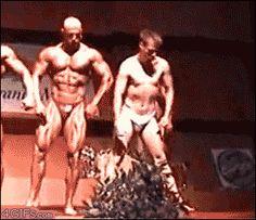 Funny. Body building gif