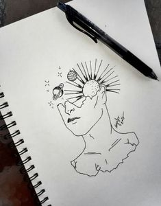 drawing trippy drawings simple line sketches unique demon galaxy pencil thewhitestyle jamiedrawingmagazine ru