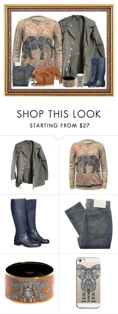 """""""Elle"""" by bren-johnson ❤ liked on Polyvore featuring Topshop, Mr. Gugu & Miss Go, Jilsen Quality Boots, Surface To Air, Hermès, Casetify and Loewe"""