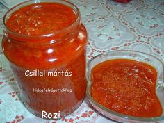 Rozi erdélyi,székely konyhája: Csillei mártás Ketchup, Salsa, Bbq, Cooking Recipes, Food, Red Peppers, Barbecue, Barrel Smoker, Chef Recipes