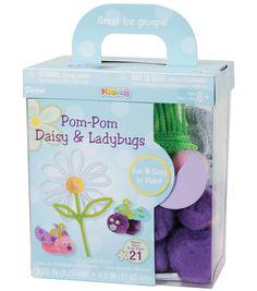 Darice Foam Kit-Makes 21-Pom-Pom Daisy