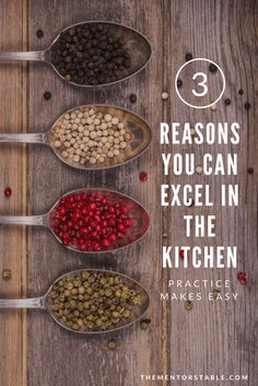 Why you CAN excel in the kitchen