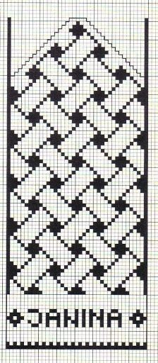 Anna Crochet Hungari https:// Filet Crochet Charts, Knitting Charts, Knitting Stitches, Knitting Patterns, Tapestry Crochet Patterns, Loom Patterns, Mittens Pattern, Knit Mittens, Cross Stitch Embroidery