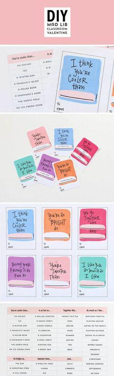 FREE Printable Valentine's Day Card: DIY Mad Lib — Made Vibrant