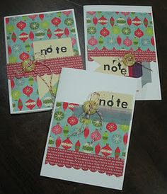 3notes - card & grid papers notepads combined