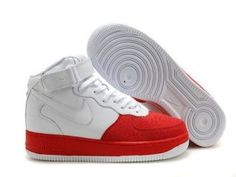 quality design 8cc07 c0245 Nike Air Force 1 Mid Heren Sportschoenen Rood Wit,Latest trainers arrive -  order from us with good price