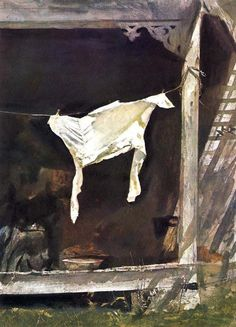 Andrew Wyeth - Value Contrast example - from  How to Treat Foreground thread on WC