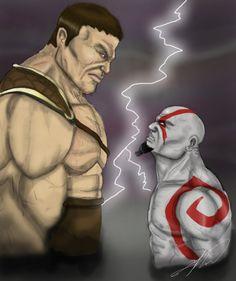 Kratos vs Hercules (Fighting Games) Kratos Mortal Kombat, Fighting Games, God Of War, Hercules, Online Games, Games To Play, Joker, Statue, Fictional Characters