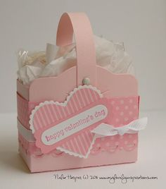 Stampin' Up! Two Tags Box Nelia Harper Valentine ~ another tag idea NJ Save for 12 tags of Christmas  Use a bucket and cute paper: