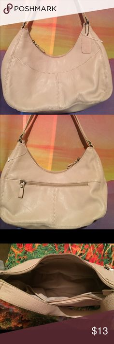 Cute small cream handbag Brand new St Johns Bay small handbag purse. New without tags cream color. Perfect bag for any occasion and matches with almost anything. Never used St. John's Bay Bags Shoulder Bags