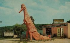 Postcard from the Dinosaur Track & Mineral Museum, Brewster, NY