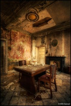 Abandoned Castle, Belgium...makes me want to know who lived here, what they were like, how did it become abandoned.
