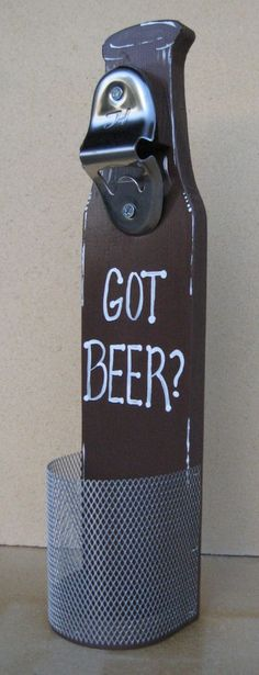 Beer Bottle Opener With Cap Catcher Wall Mounted Got by WhatWeMade, $28.99