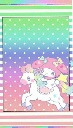 "magical and colorful ""Flying Little Pony"" My Melody Wallpaper, Friends Wallpaper, Kitty Wallpaper, Sanrio Characters, Cute Characters, Cute Wallpapers, Wallpaper Backgrounds, Wallpaper Designs, Cute Home Screens"