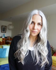 Gray Wig Lace Frontal Wigs organic hair colour for grey hair – dianawigs Long Silver Hair, Long Gray Hair, Grey Wig, Curly Gray Hair, Frosted Hair, Organic Hair Color, Curly Hair Styles, Natural Hair Styles, Dark Red Hair