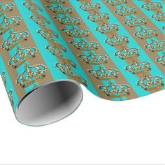 Shop Turquoise Blue Gold Prince Crown Wrapping Paper created by BabyCentral. Custom Wrapping Paper, Gift Wrapping Paper, Blue Birthday Parties, Prince Crown, Gold Stripes, Birthday Party Invitations, Blue Gold, Wraps, Turquoise