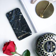 Port Laurent Marble. Black Marble iphone case  Idealofsweden. iDeal of Sweden