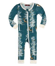 e7aaa36c283 Milkbarn Blue Buck Long-Sleeve Playsuit - Newborn
