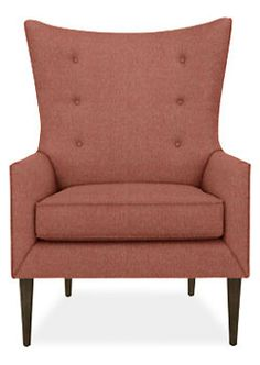 Louis Chair & Ottoman in Tatum Fabric - Chairs - Living - Room & Board