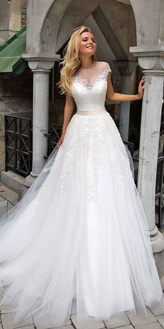 Oksana Mukha Wedding Dresses 2017 ❤ See more: http://www.weddingforward.com/oksana-mukha-wedding-dresses/ #weddings