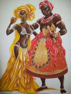 Oshun & Chango by Claudia Krindges