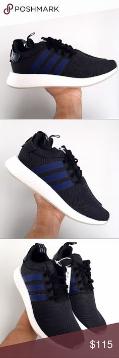 75143501cf2c Adidas NMD R2 Black Indigo Men s 10   Women 11 Brand New in Box   no