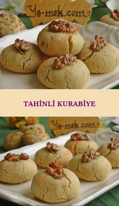 Tahinli Cookies - A very delicious cookie recipe with its unique flavor and mouth-spreading consistency . Delicious Cookie Recipes, Yummy Cookies, Baby Food Recipes, Cooking Recipes, Family Meals, Biscuits, Nutella, Deserts, Food And Drink