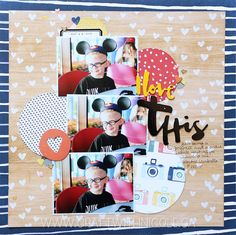 """Craft With Nicole: Memory Keeping Monday: """"I Love This"""" Scrapbook Layout"""
