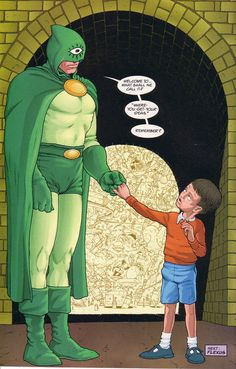 Interior art from Flex Mentallo #3 (1996), by Frank Quitely & Peter Doherty