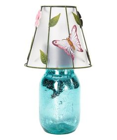 Another great find on #zulily! Blue Mercury Glass Solar Lamp #zulilyfinds