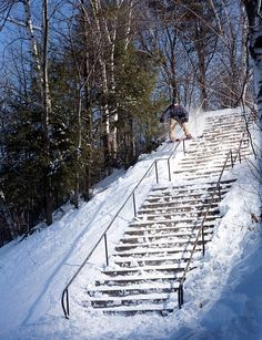 A pedestrian sees a way down a hill easily, a snowboarder sees an ultimate challenge