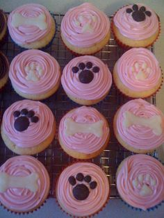 Trendy Cupcakes For Kids Girls Ideas Dog Birthday Cupcakes, Puppy Dog Cupcakes, Puppy Birthday Parties, Puppy Cake, Animal Cupcakes, Puppy Party, Themed Cupcakes, Cute Cupcakes, Birthday Cake Girls
