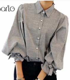 8e6f9353 Cheap camicie donna, Buy Quality femme chemisier directly from China women  blouses Suppliers: big bow lantern sleeve women blouse femme striped  vintage ...