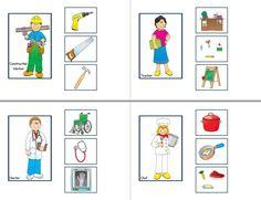 Clasificar Preschool Jobs, Senses Preschool, Community Helpers Preschool, Free Preschool, English Activities, Book Activities, Montessori Jobs, Community Jobs, File Folder Activities