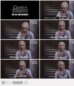 Games of Thrones in 30 seconds