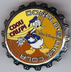 Disney's Donald Duck Soda Pop Bottle Top Pin