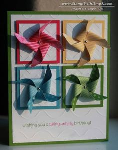 Pinwheel Birthday Card by amyk3868 - Cards and Paper Crafts at Splitcoaststampers