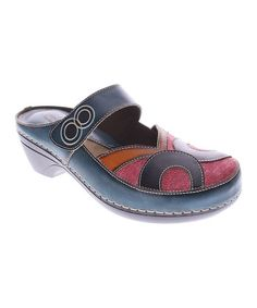 Another great find on #zulily! Blue Maureen Leather Clog #zulilyfinds