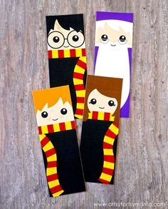 Cute Harry Potter character bookmarks - free to print off - cute little gift for children