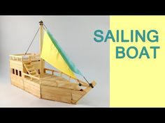 How to Make a Boat with Popsicle Sticks - Handmade - DIY Crafts - Creative with Ice-Cream Sticks - YouTube Popsicle Stick Boat, Diy Popsicle Stick Crafts, Craft Sticks, Boat Building Plans, Boat Plans, Crafts For Teens To Make, Diy And Crafts, Wooden Crafts, Yarn Crafts
