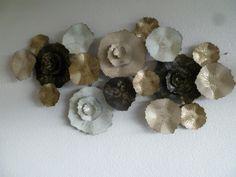 Muurdecoratie metaal 3D Colinda - Bloemen - DEKOGIFTS Metal Wall Sculpture, Wall Sculptures, Metal Walls