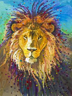 Image of Lion Heart Energy Painting - Giclee Print by Julia Watkins, Energy Artist