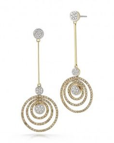 Cognac Diamond Earrings ~ Roberto Coin