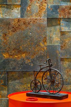 Wall Painting Decor, Wall Decor, Ceramica Exterior, Stone Wall Design, Modern Industrial Decor, Drawing Room Interior, Barber Shop Decor, Home Room Design, Fashion Room