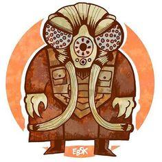 Zuckuss en color! #zuckuss #starwars #lucasfilm #edbot5000 #eb5k #drawing #sketch #sketchdaily #artlife #movies #mercenary #art #artlife #comicart #comicartist #illustration #scifi #drawwars2015 #bountyhunter #color