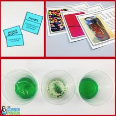 Mix! Science Stations Unit- 9 centers about mixtures, solutions, and compounds
