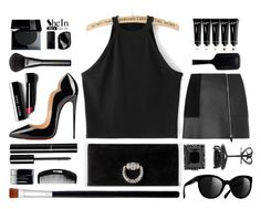"""black"" by sandevapetq ❤ liked on Polyvore featuring moda, Christian Louboutin, Alexander Wang, Gucci, Chanel, Bobbi Brown Cosmetics, GHD, NARS Cosmetics i Tangle Teezer"